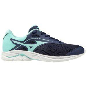 Mizuno Wave Rider 23 - Kids Running Shoes - Medieval Blue/Aruba Blue