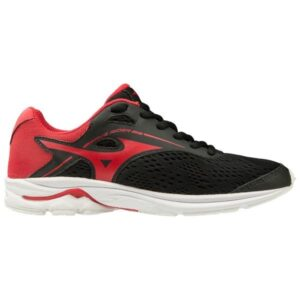Mizuno Wave Rider 23 - Kids Running Shoes - Black/Chinese Red