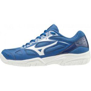 Mizuno Cyclone Speed 2 - Kids Tennis Shoes - True Blue/White/Medieval Blue