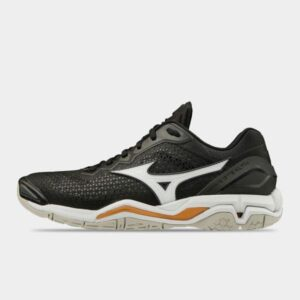 Mizuno Wave Stealth 5 - Womens Netball Shoes - Black/White/Gold