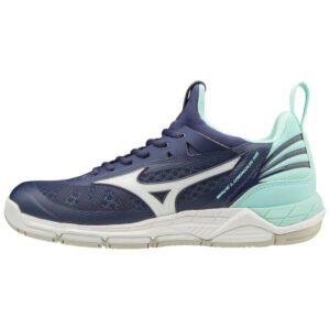 Mizuno Wave Luminous - Womens Netball Shoes - Astral Aura/White/Blue Light
