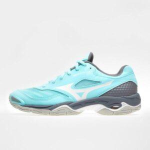 Mizuno Wave Phantom 2 - Womens Netball Shoes - Aruba Blue/White/Steel Grey