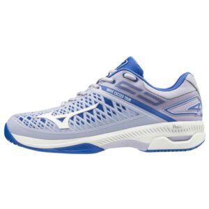 Mizuno Wave Exceed Tour 4 AC - Womens Tennis Shoes - Purple Heather/White/Ultramarine