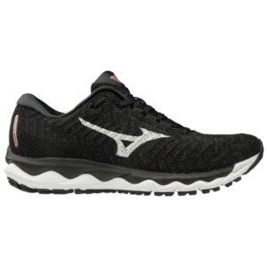 Mizuno Wave Sky Waveknit 3 - Womens Running Shoes - Black/White/Champagne