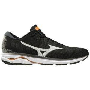 Mizuno Wave Rider Waveknit 3 - Mens Running Shoes - Black/White