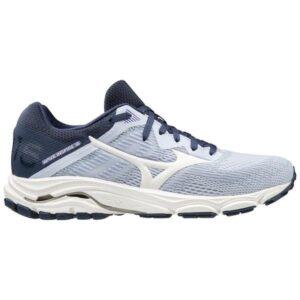 Mizuno Wave Inspire 16 - Womens Running Shoes - Arctic Ice/Snow White/Mood Indigo