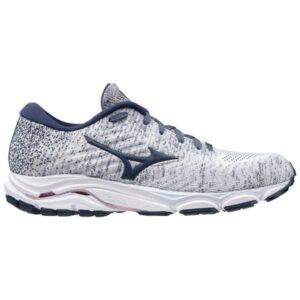 Mizuno Wave Inspire 16 Waveknit - Womens Running Shoes - Arctic Ice/Mood Indigo/Light Lilac