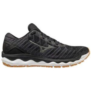 Mizuno Wave Sky 4 Waveknit - Mens Running Shoes - Black/Biscuit