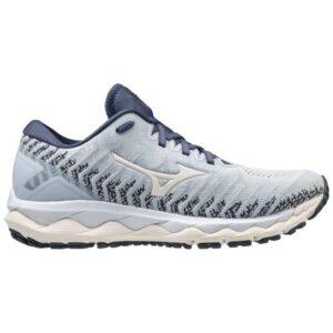 Mizuno Wave Sky 4 Waveknit - Womens Running Shoes - Arctic Ice/Mood Indigo