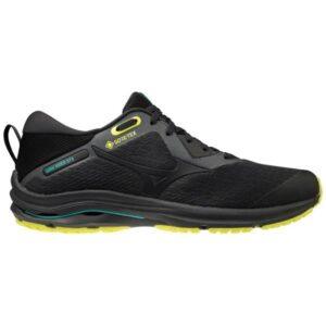 Mizuno Wave Rider GTX 2 - Mens Trail Running Shoes - Dark Shadow/Safety Yellow