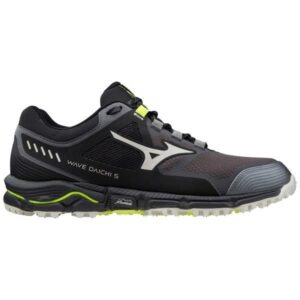 Mizuno Wave Daichi 5 - Mens Trail Running Shoes - Magnet/Safety Yellow