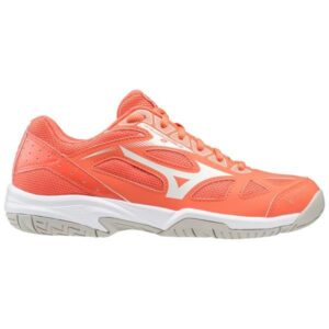 Mizuno Cyclone Speed 2 - Kids Netball Shoes - Living Coral/Snow White