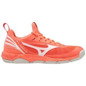 Mizuno Wave Luminous - Womens Netball Shoes - Living Coral/Snow White
