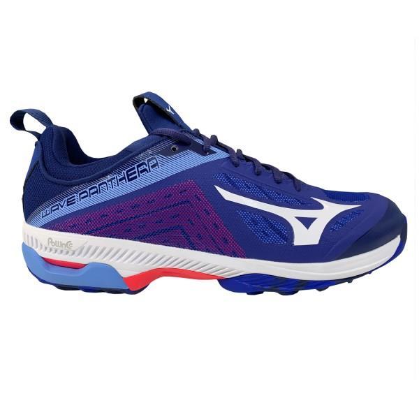 Mizuno Wave Panthera - Unisex Hockey Shoes - Reflex Blue/White