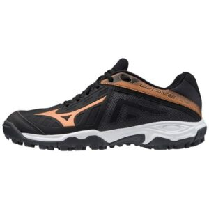 Mizuno Wave Lynx - Mens Hockey Shoes - Black/White/Gold
