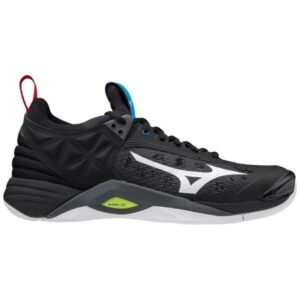 Mizuno Wave Momentum - Mens Indoor Court Shoes - Black/White