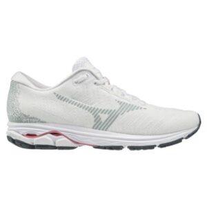 Mizuno Project Zero Wave Rider Waveknit - Womens Running Shoes - White/Pink