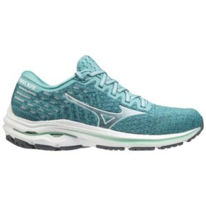 Mizuno Wave Inspire 17 Waveknit - Womens Running Shoes - Dusty Turquoise/White