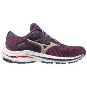 Mizuno Wave Inspire 17 - Womens Running Shoes - India Ink/Platinum Gold