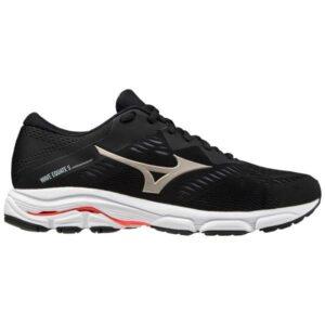 Mizuno Wave Equate 5 - Mens Running Shoes - Black/Platinum Gold