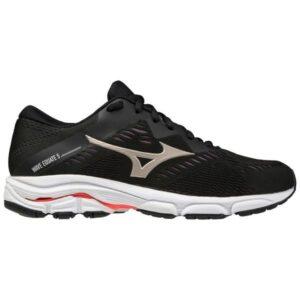 Mizuno Wave Equate 5 - Womens Running Shoes - Black/Platinum Gold