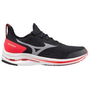 Mizuno Wave Rider Neo - Mens Running Shoes - Black/White/Ignition Red