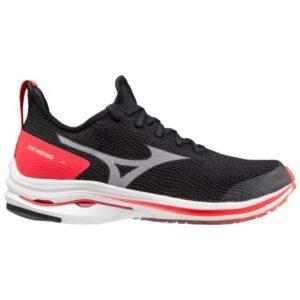 Mizuno Wave Rider Neo - Womens Running Shoes - Black/White/Ignition Red