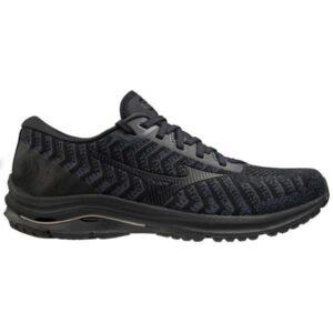 Mizuno Wave Rider 24 Waveknit - Mens Running Shoes - India Ink/Ebony