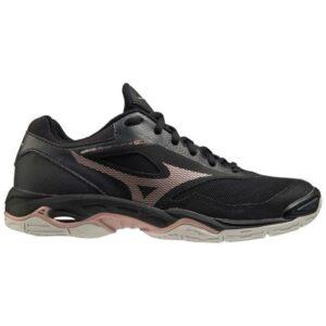 Mizuno Wave Phantom 2 - Womens Netball Shoes - Black/Rose Gold