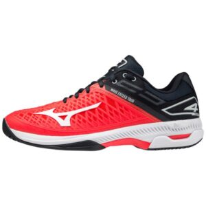 Mizuno Wave Exceed Tour 4 - Mens Tennis Shoes - Ignition Red/White