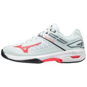 Mizuno Wave Exceed Tour 4 AC - Womens Tennis Shoes - Wan Blue/Ignition Red