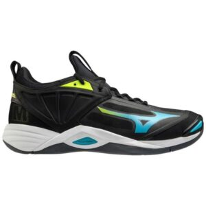 Mizuno Wave Momentum 2 - Mens Volleyball Indoor Court Shoes - Black/Blue Atoll