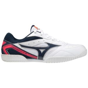 Mizuno Crossmatch Plio Rx4 - Mens Table Tennis Shoes - White/Dress Blues