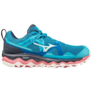 Mizuno Wave Mujin 7 - Womens Trail Running Shoes - Scuba Blue/Snow White/Pink