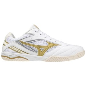 Mizuno Drive 8 - Mens Table Tennis Shoes - White/Gold/Papyrus