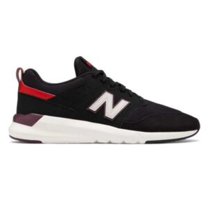 New Balance 009 - Mens Sneakers - Black/Velocity Red/Burgundy