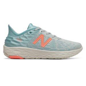 New Balance Fresh Foam Beacon v2 - Womens Running Shoes - Camden Fog/Newport Blue/Ginger Pink