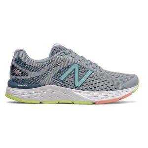 New Balance 680v6 - Womens Running Shoes - Grey/Teal/Yellow