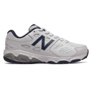New Balance 680 SL Lace - Kids Cross Training Shoes - White/Navy