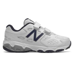 New Balance 680 SL Velcro - Kids Cross Training Shoes - White/Navy