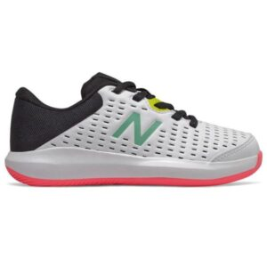 New Balance 696v4 - Kids Tennis Shoes - White/Black/Pink