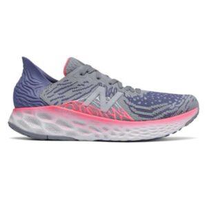 New Balance Fresh Foam 1080v10 - Womens Running Shoes - Grey/Pink/White