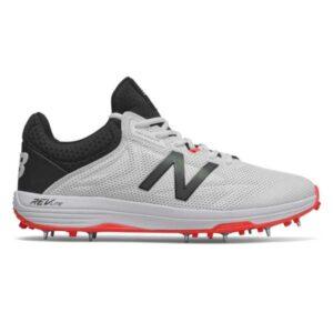 New Balance 10v4 - Mens Cricket Shoes - White/Black/Red