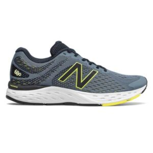 New Balance 680v6 - Mens Running Shoes - Grey/Black/Lime
