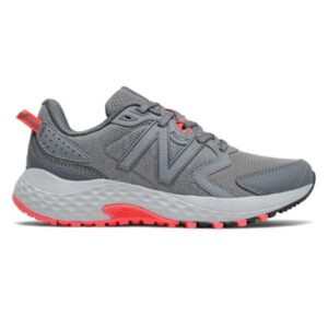 New Balance Trail 410v7 - Womens Trail Running Shoes - Gunmetal/Vivid Coral
