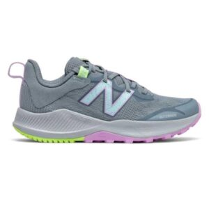 New Balance Nitrel v4 - Kids Trail Running Shoes - Grey/Pink