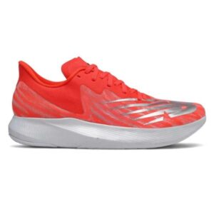 New Balance FuelCell TC - Womens Road Racing Shoes - Neo Flame/Light Aluminium/White