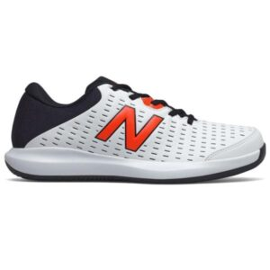 New Balance 696v4 - Mens Tennis Shoes - White/Orange/Black