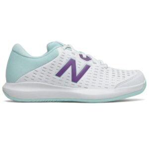 New Balance 696v4 - Womens Tennis Shoes - White/Purple/Teal