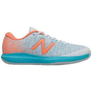New Balance FuelCell 996v4 Womens Tennis Shoes - White/Citrus